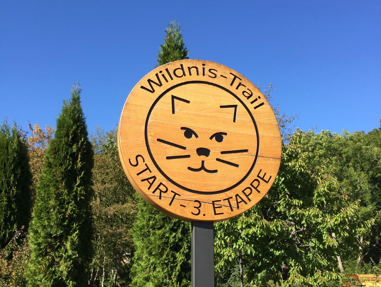 Wildnistrail Schild