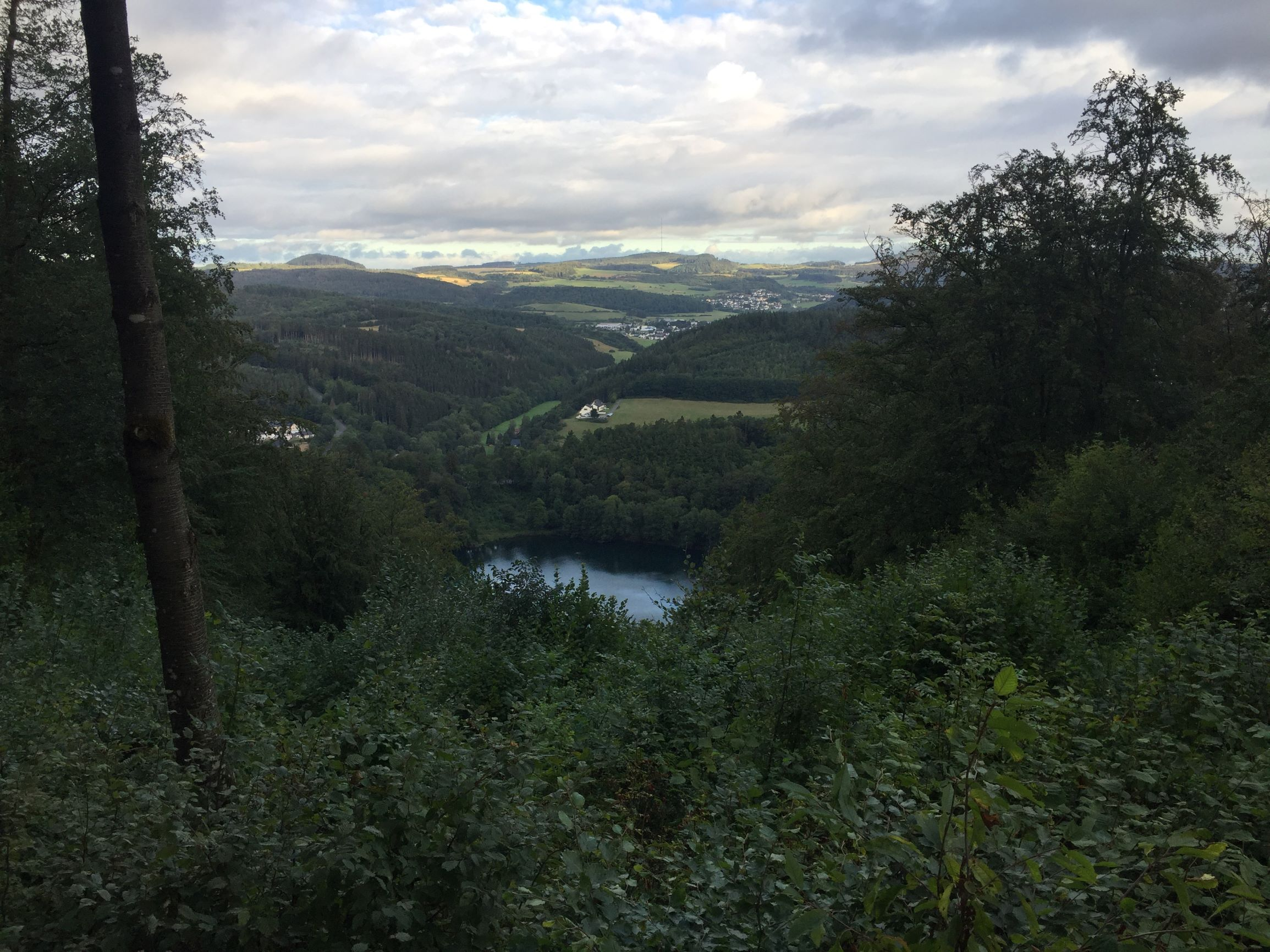 Blick auf das Gemuendener Maar vom Maueseberg