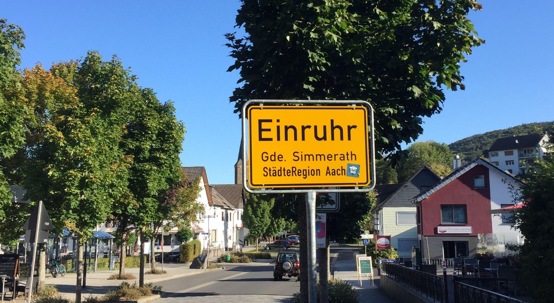 Ruhrberg Ortseingang